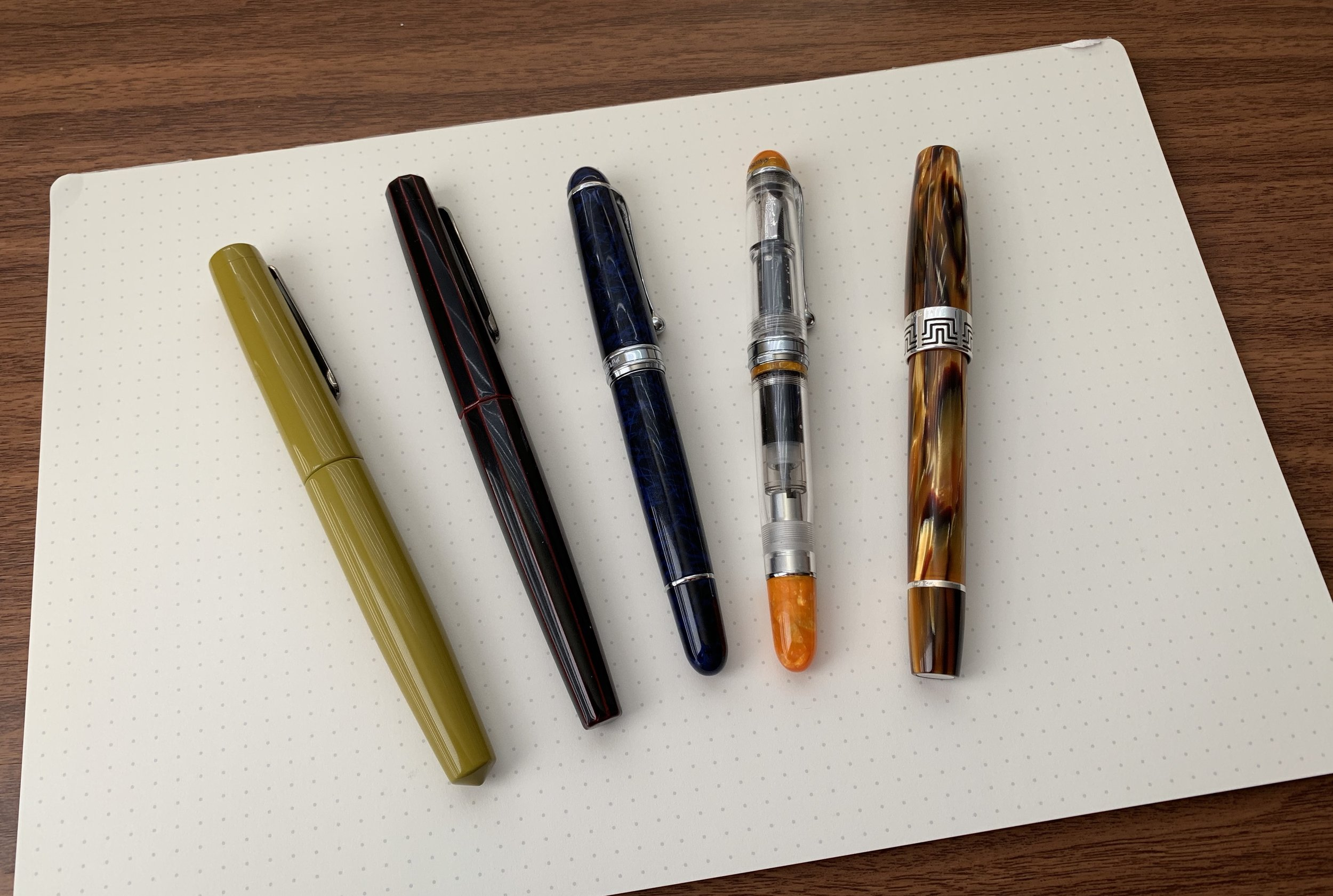 Most of my year-end 2018 acquisitions: 12+ pens out the door, five in.