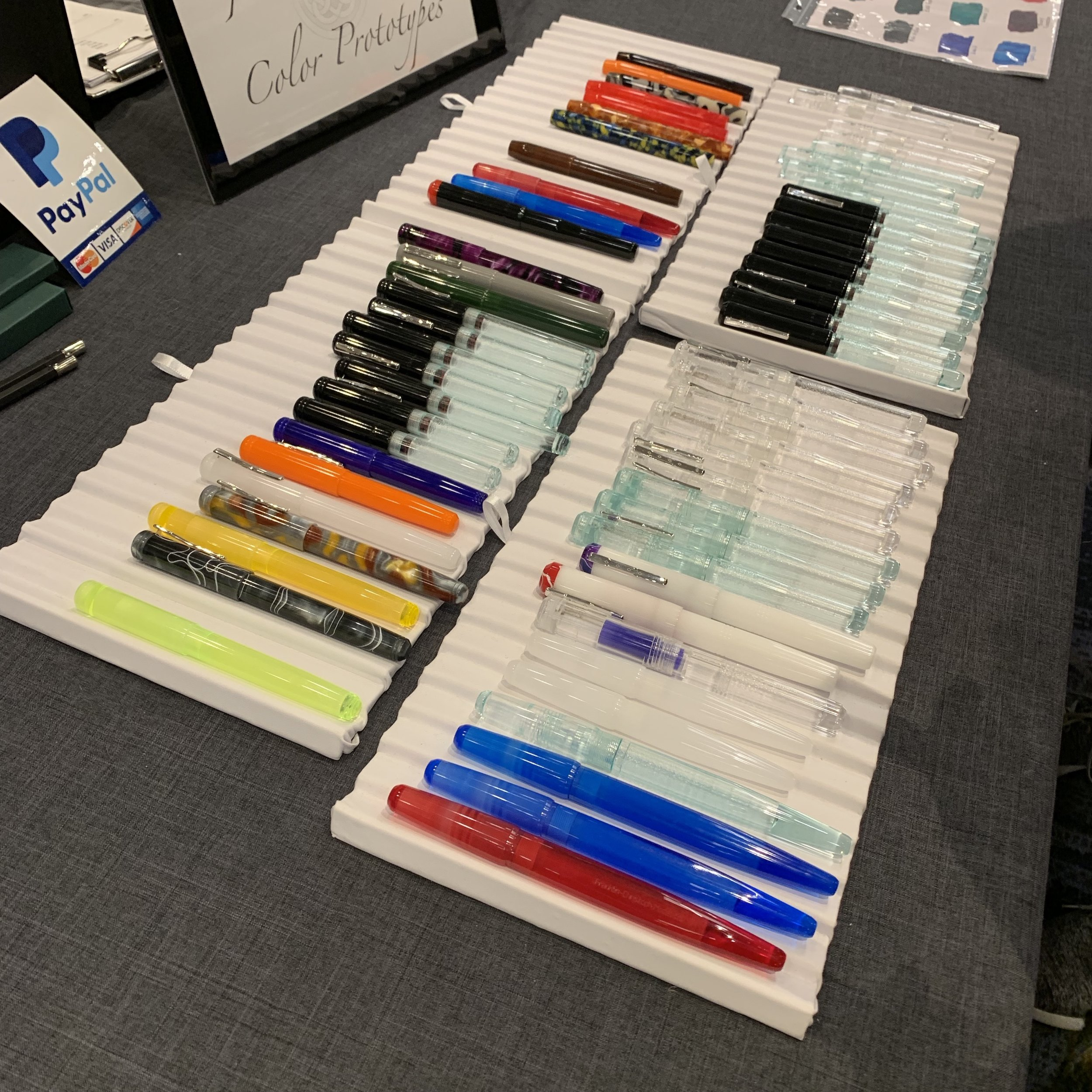 As always, Franklin-Christoph brought trays of prototypes, which went quickly each morning.