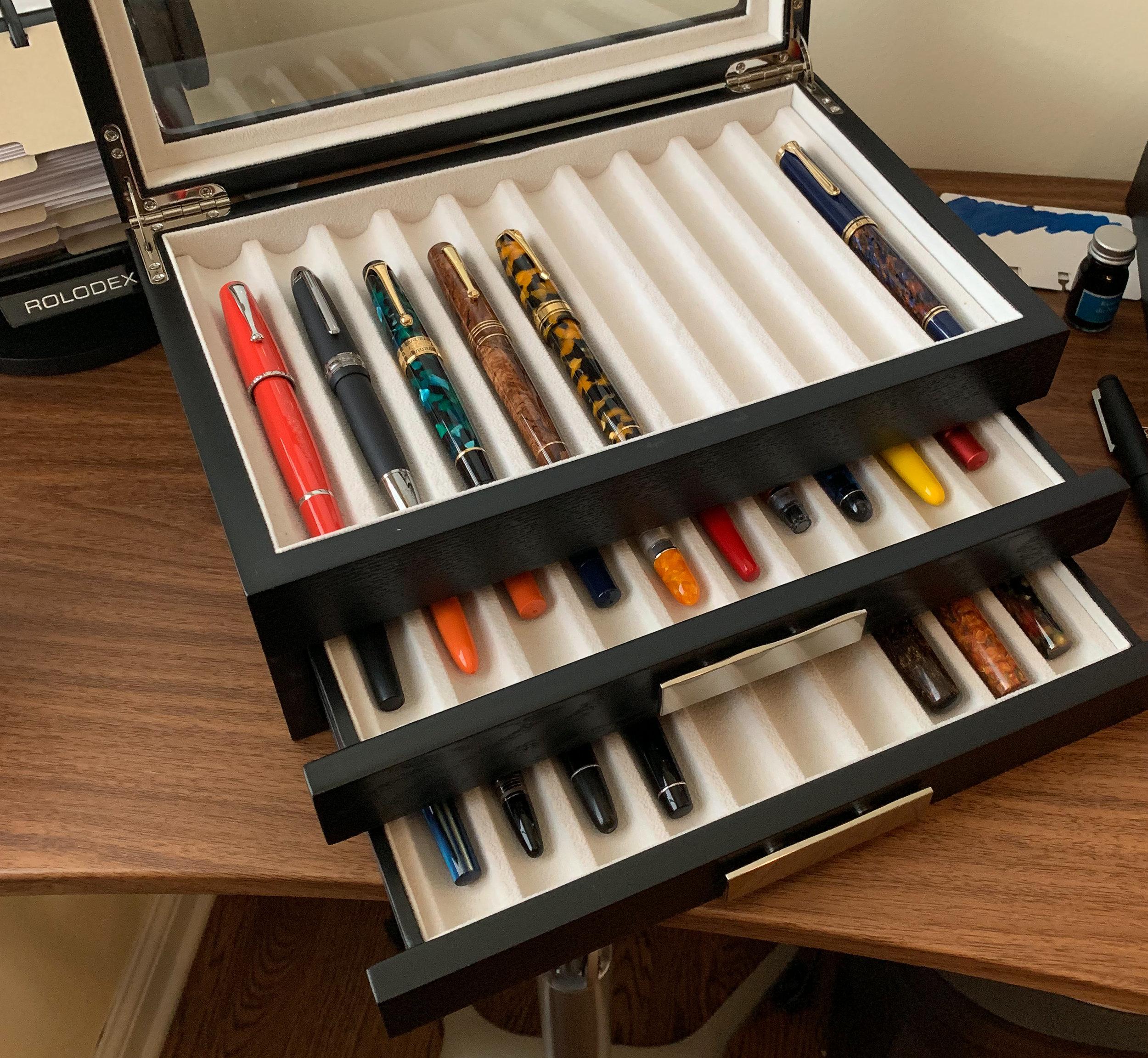 Pen Chalet 30 Pen Case Open