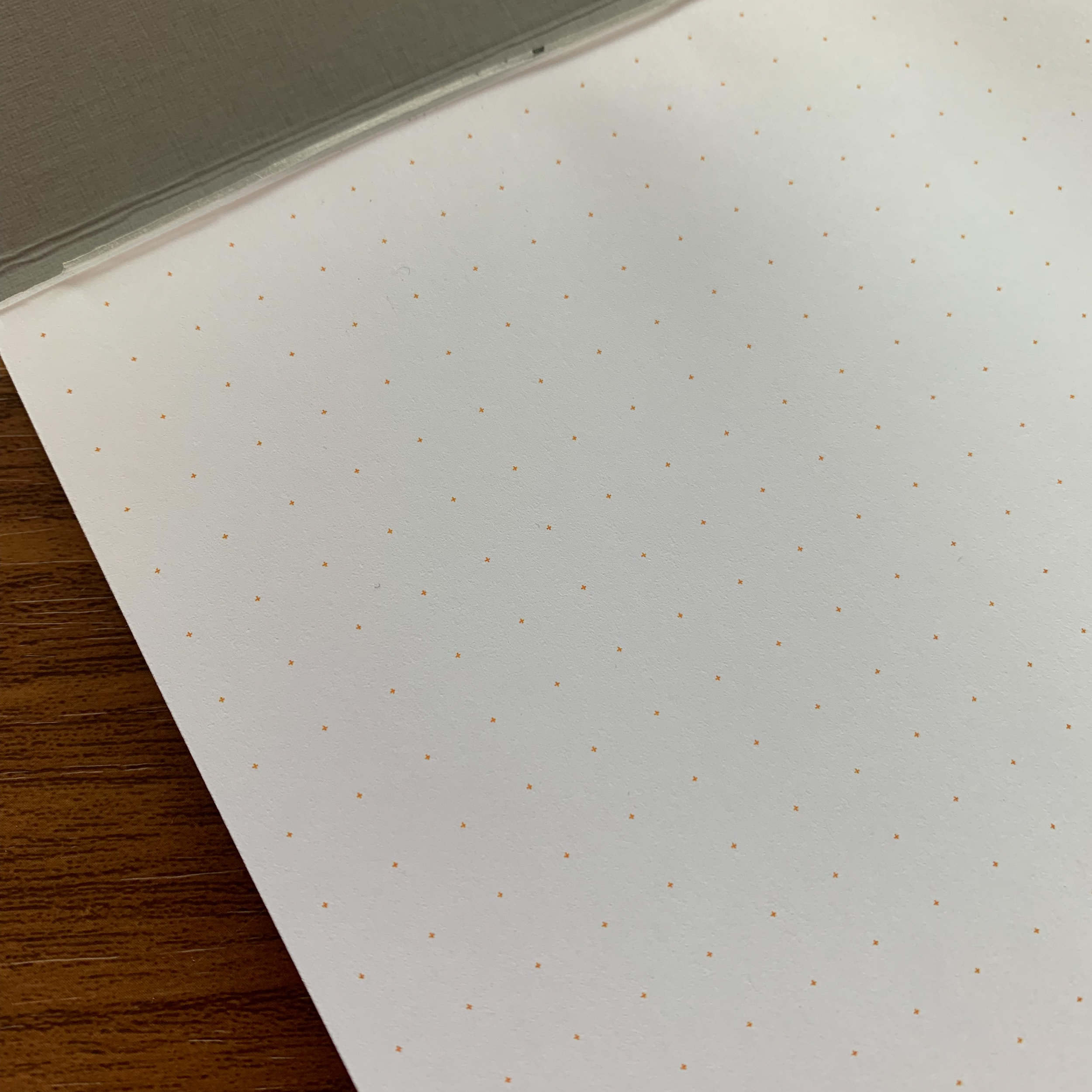 For my first pad, I chose the HP Premium 32lb paper with orange dot grid.