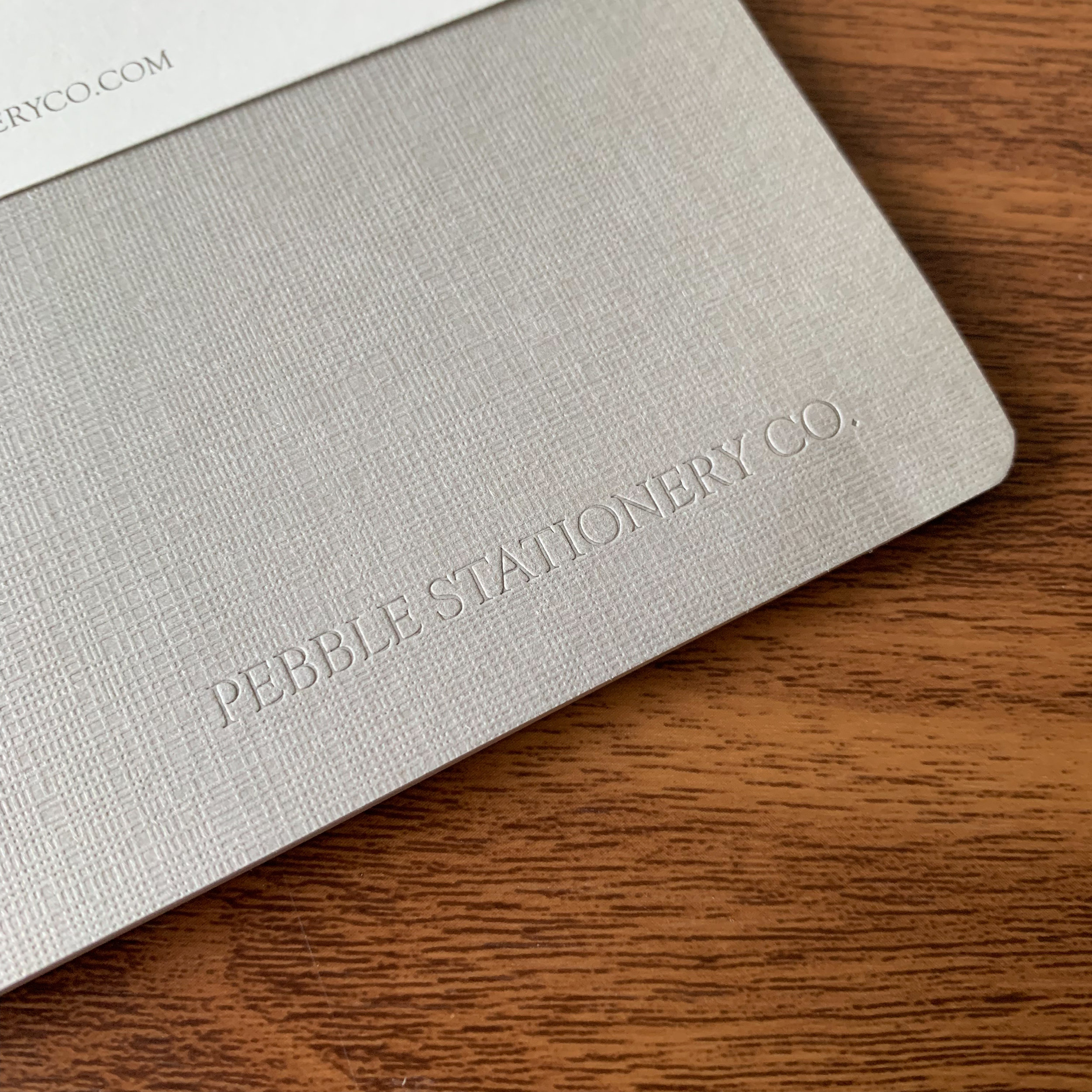 Pebble-Stationery-A5-Logo-Linen-Embossed