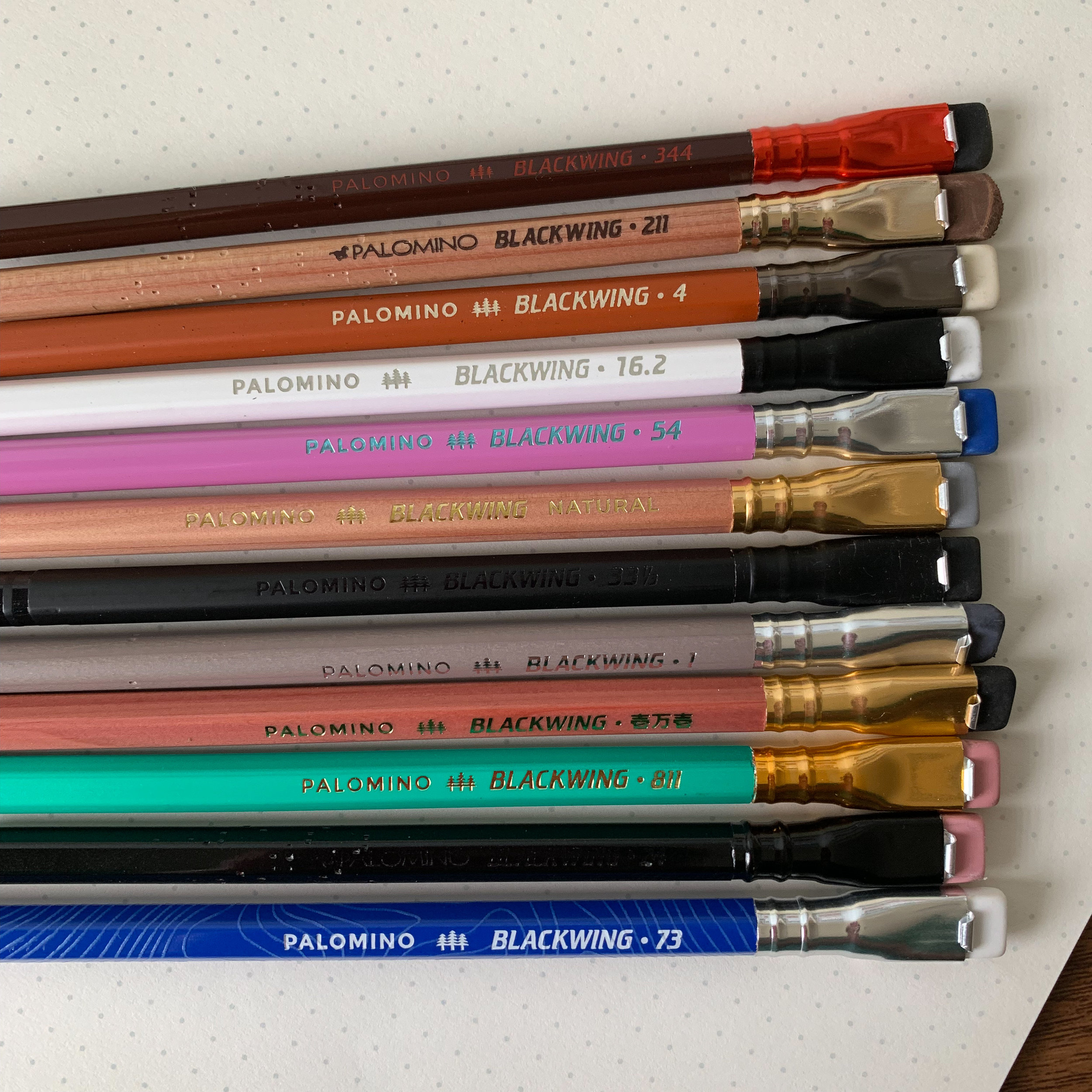 Most of the Blackwing Volumes pencils that I own, minus a few that didn't catch my fancy before I subscribed.