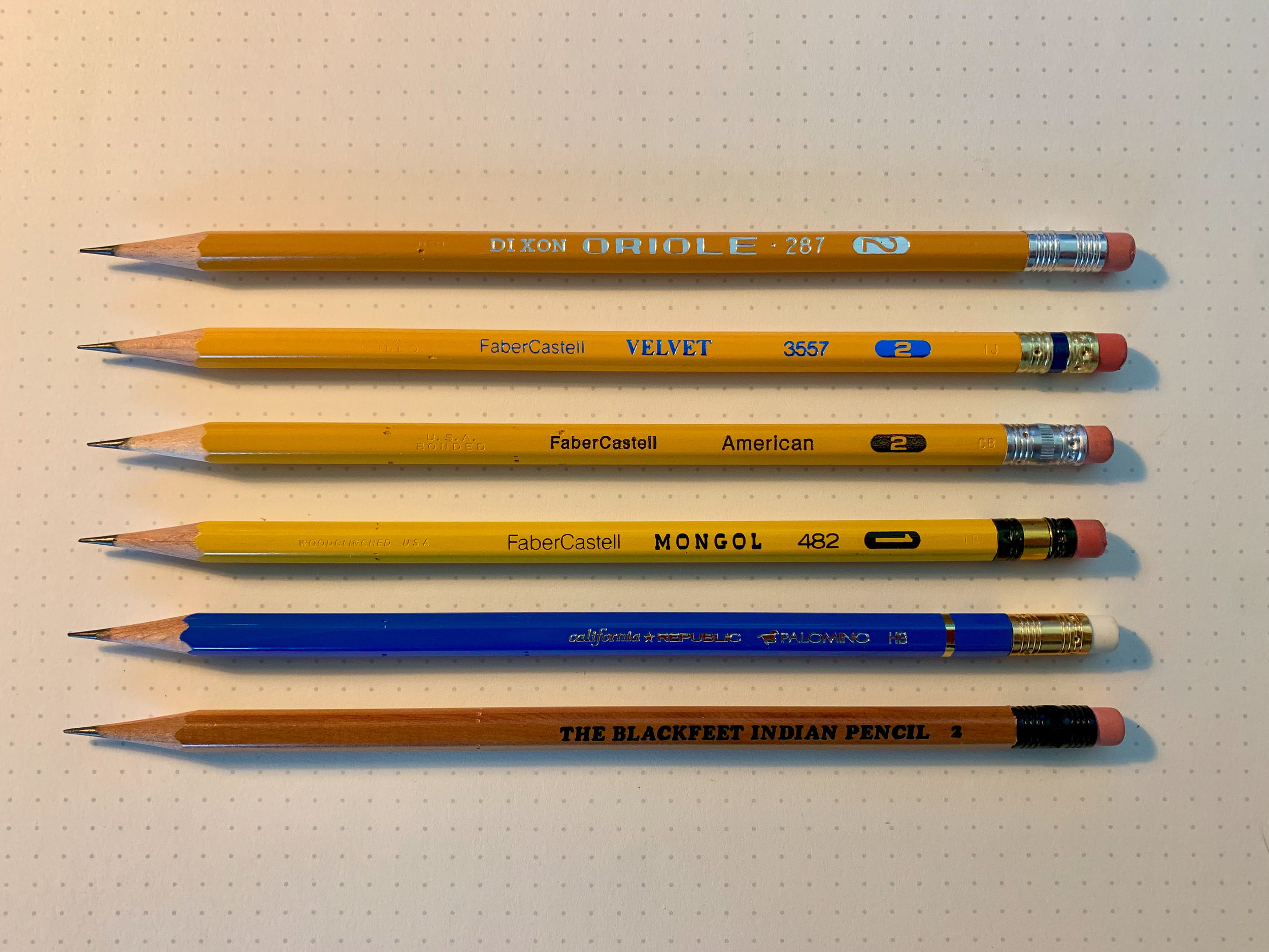 Pencils that have gone the way of the dodo.