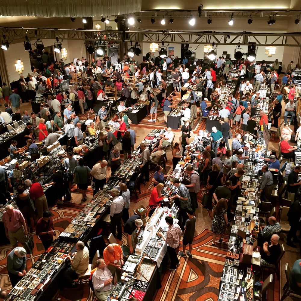 While this picture is from the old location, it gives you a good idea of how many people pass through the D.C. Show. And this is only one ballroom!