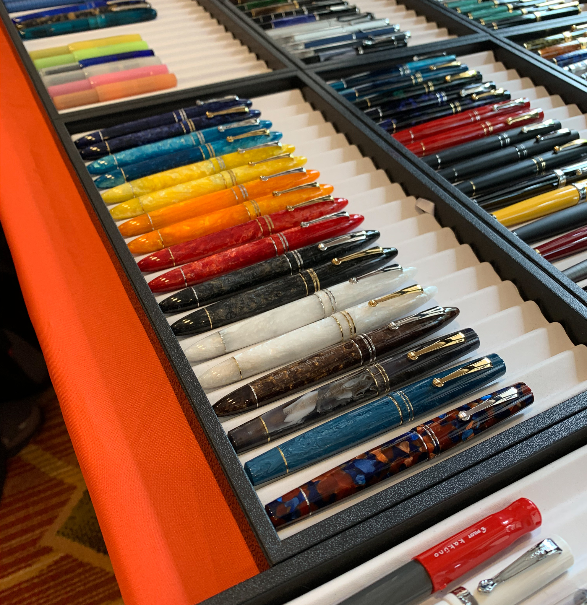 Dan Smith at  The Nibsmith  brought the entire spectrum of Leonardo pens, as well as Sailor, Visconti, and other brands.