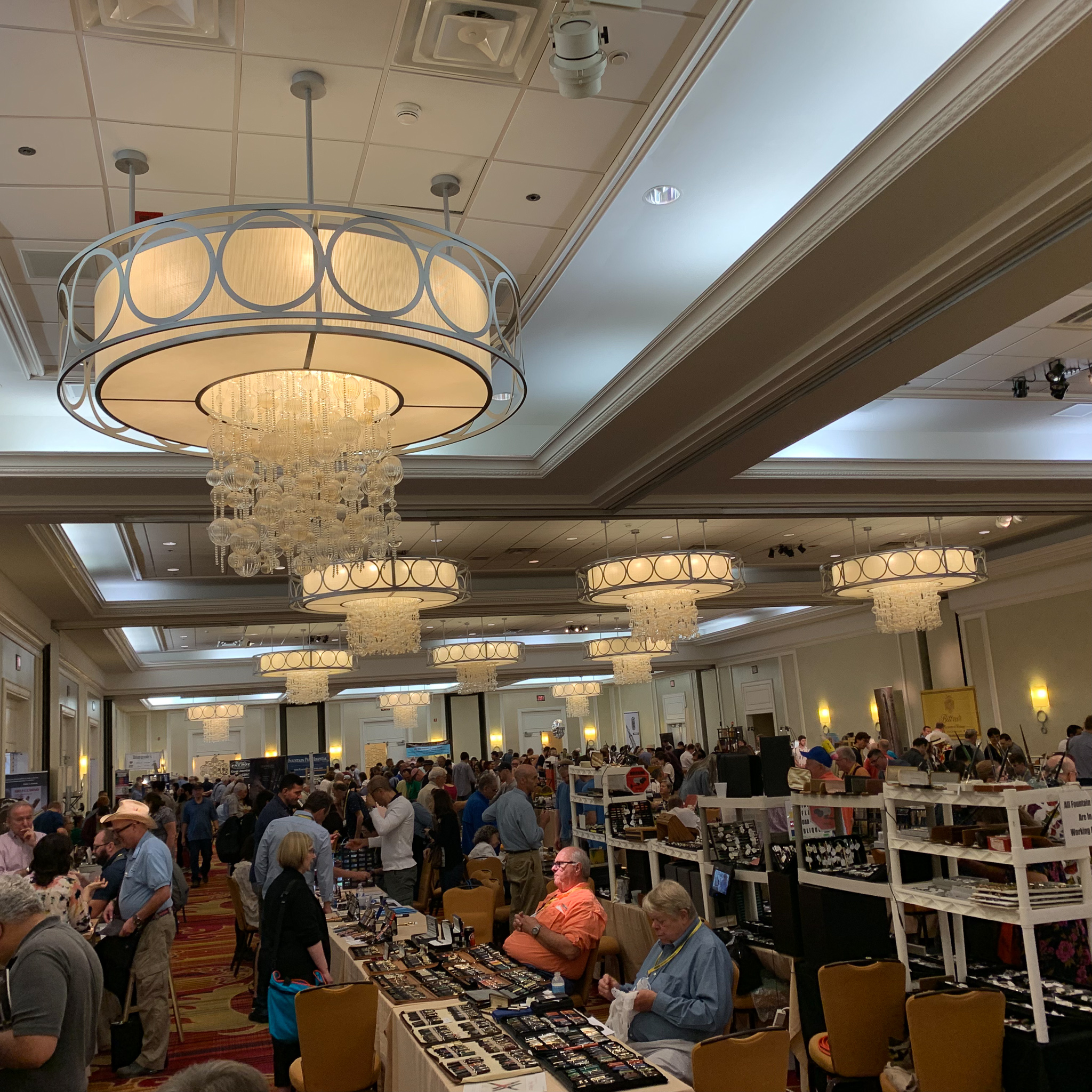 And by Saturday afternoon, the main ballroom was plenty busy. (This was taken after the main rush, probably around 3:30 or so).