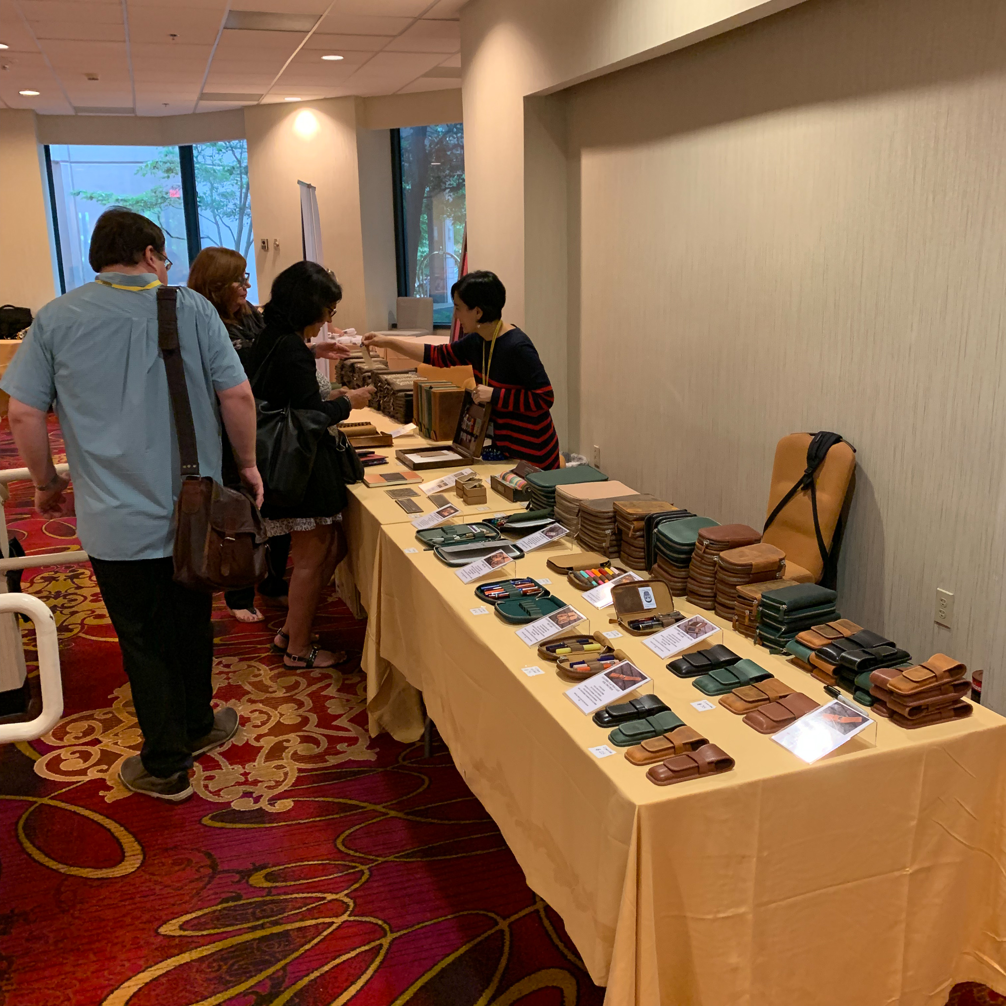 Galen Leather was set up in the front Ballroom, and Zeynep from  Write to Me Often  was working the table all weekend!