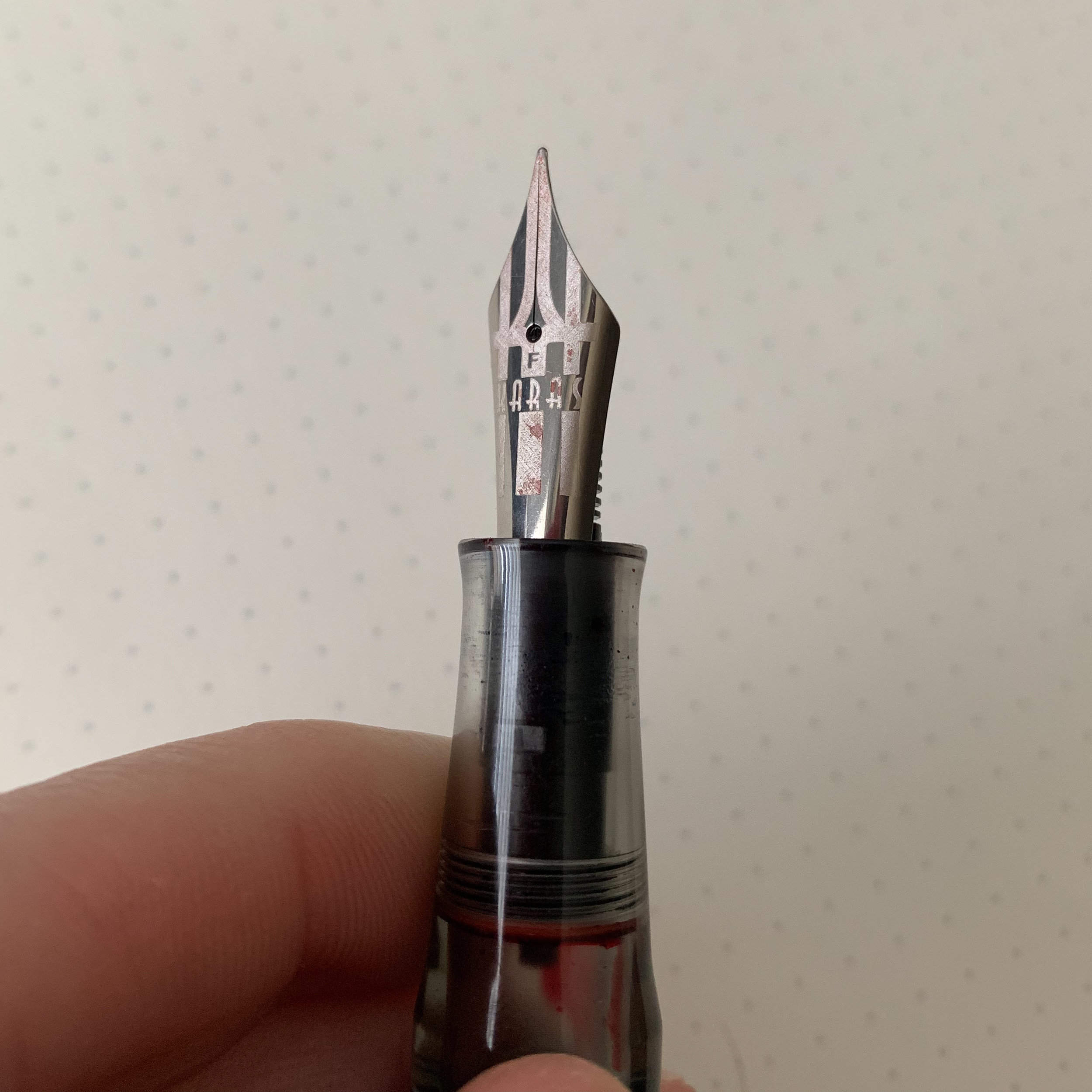 Karas Kustoms went above and beyond on the nib engraving. I love the new logo.