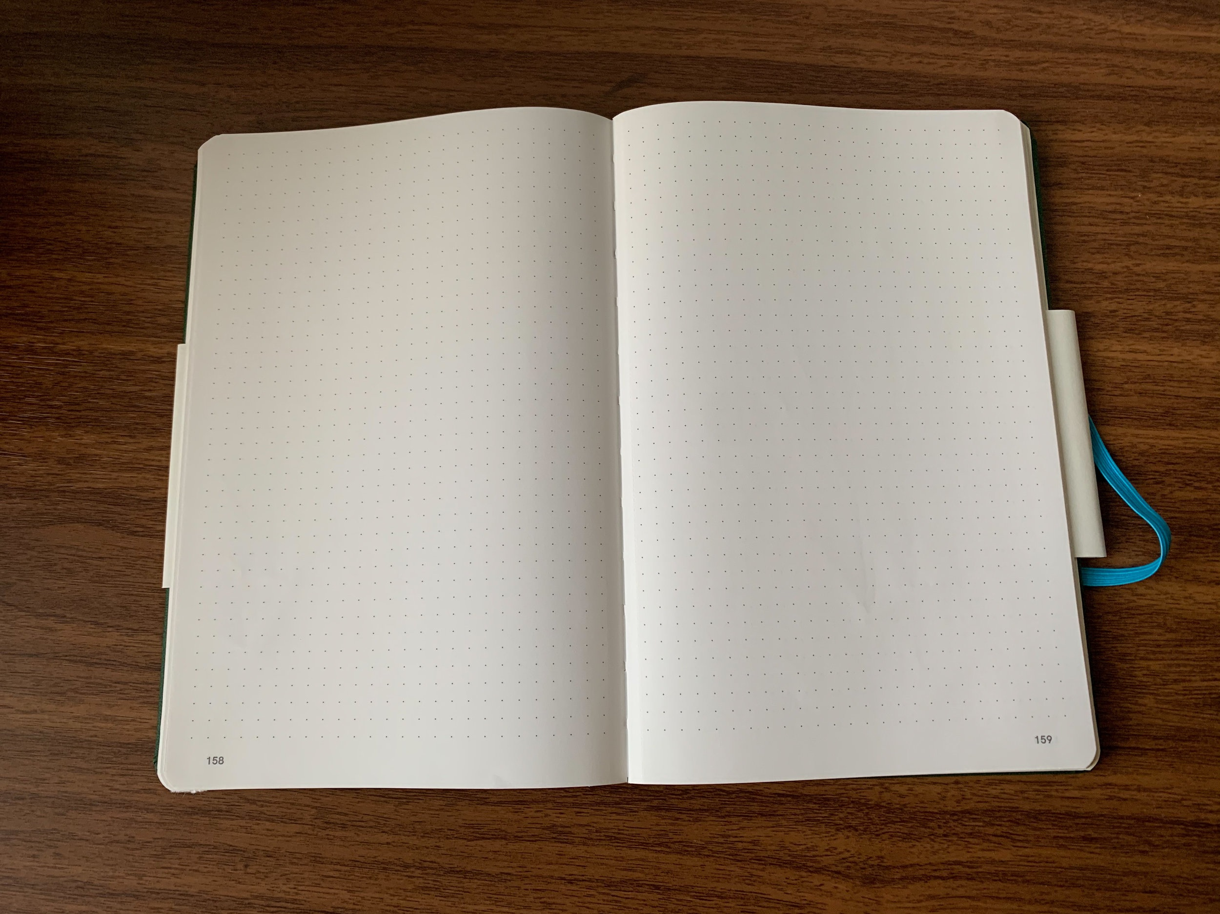 It's relatively uncommon to find a smaller bound notebook that lays completely flat without breaking the spine or holding it open, much less one with 187 pages (16 of which are perforated).