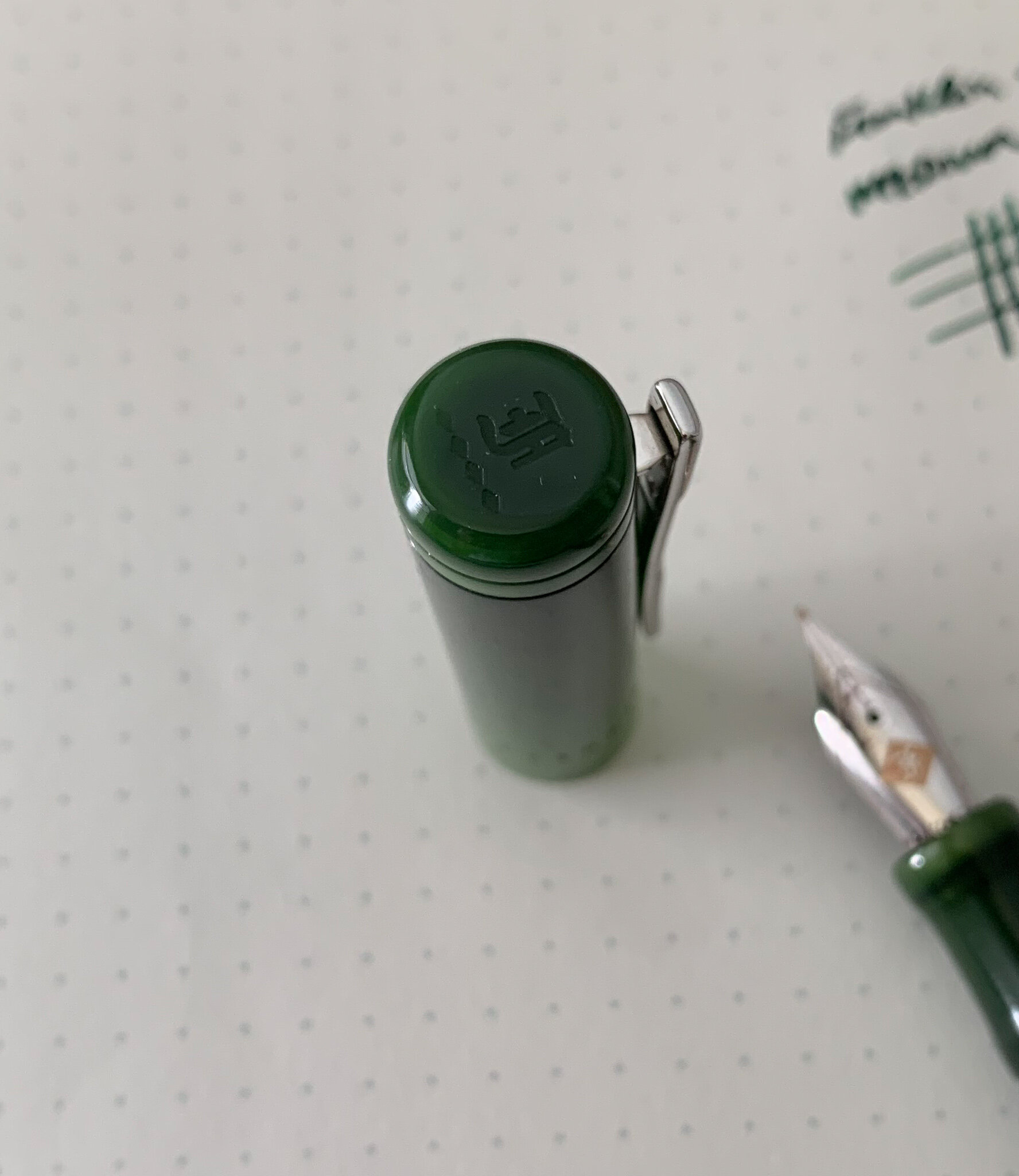 The top of each cap is engraved with the understated Franklin-Christoph logo.