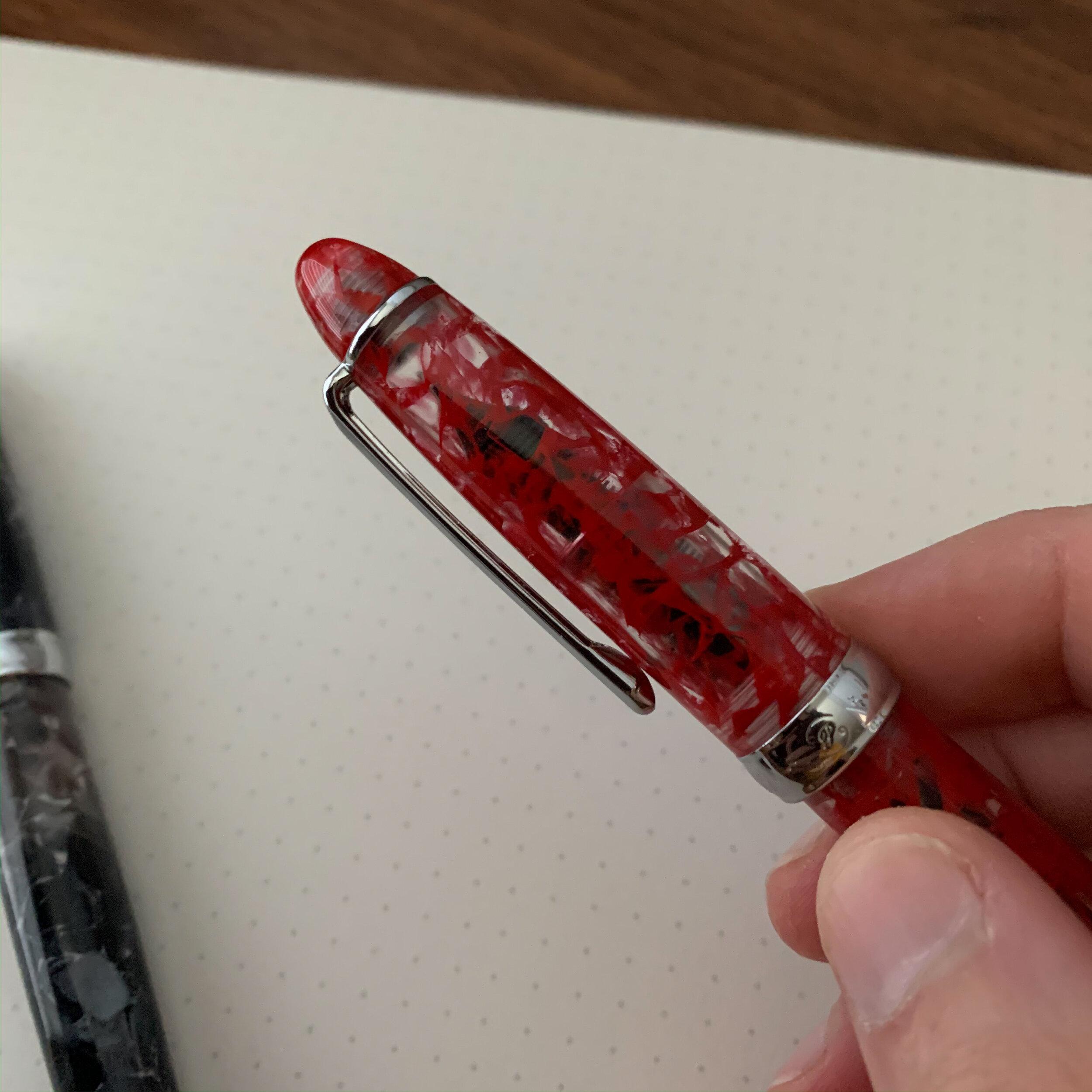 """PenBBS 308 """"99 Manjusaka"""" Red Acrylic"""