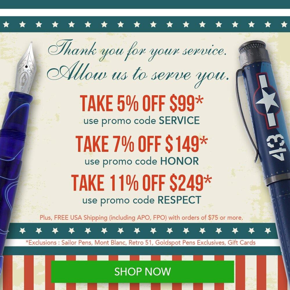 Sponsor Post Don T Miss This Goldspot Pens Veterans Day