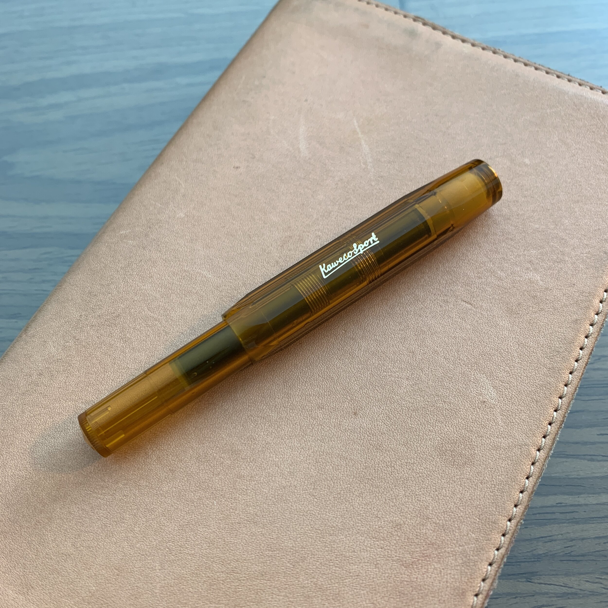 Kaweco Sport Transparent Fountain Pen in Classic Blue with Silver Trim Broad