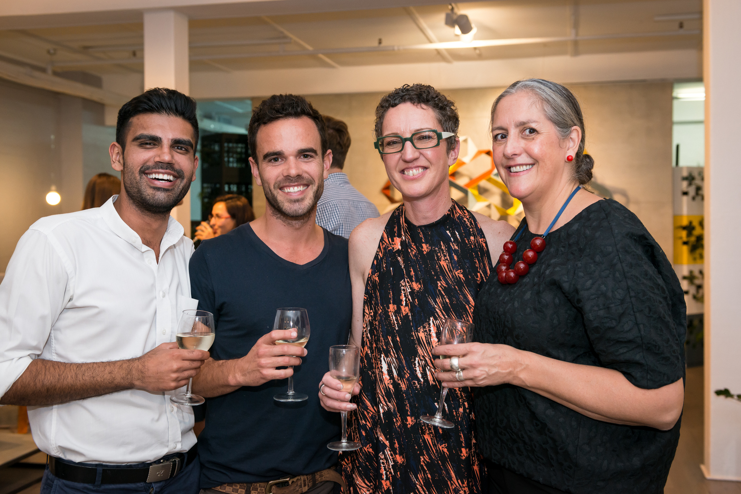 pictured: Amrinder Oberoi, Adam Robinson, Susan Tait (Co Director) and Jenniger Tighe (GM)
