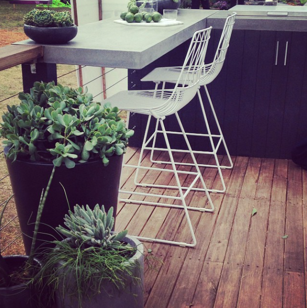 © Adam Robinson Design – Lucy Stool Bend Seating Own World Australian Garden Show Sydney 2014 02