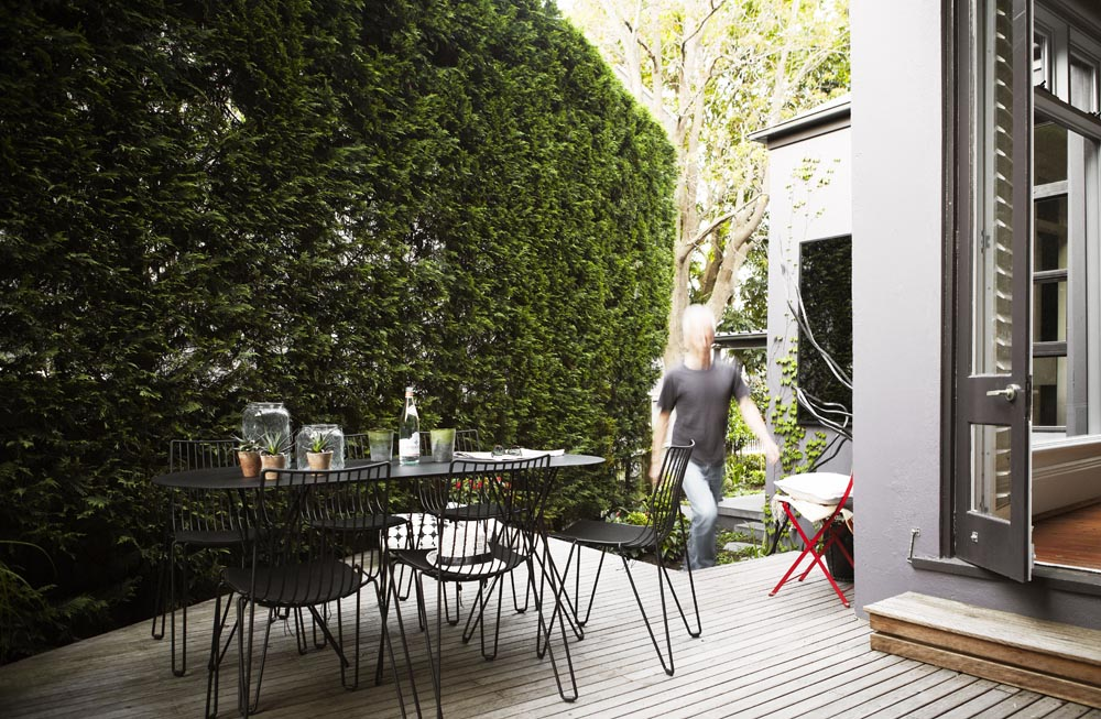 Black Tio chairs used in our luxe Paddington project