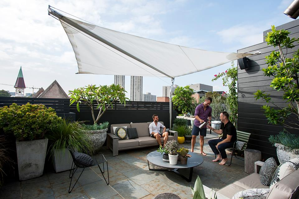 Adam Robinson Design's Redfern rootop, featured in the  Hidden Design Festival  uses great examples of scale with pots, plants and furniture flowing from one feature to the next