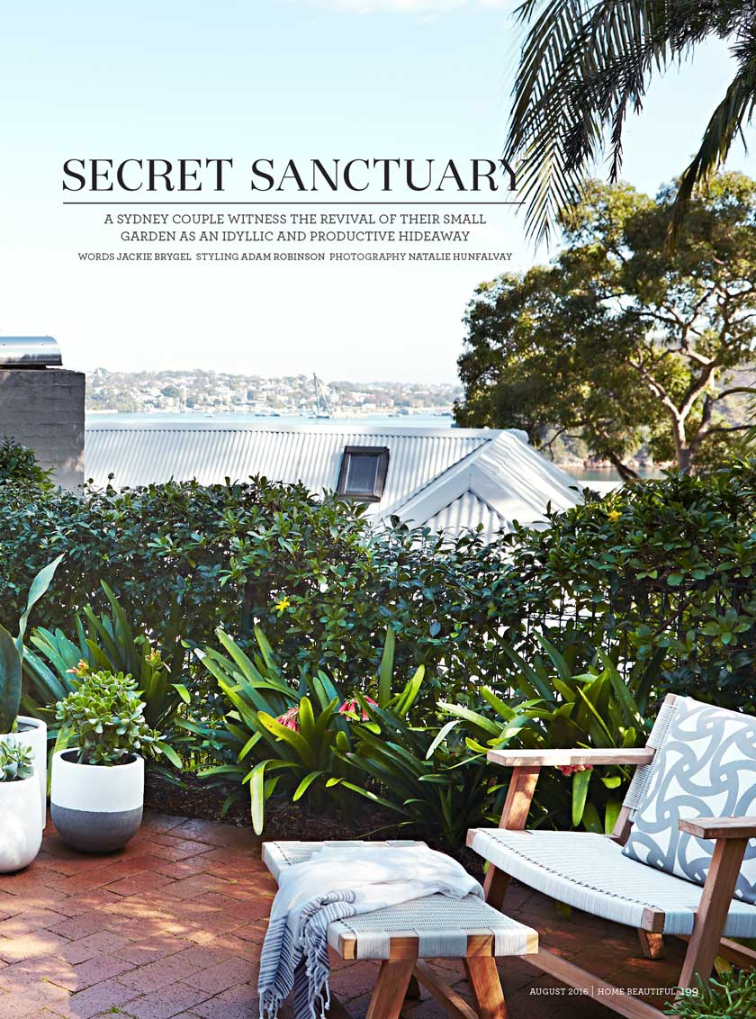 "HOME BEAUTIFUL - ""Secret sanctuary""Aug, 2016"
