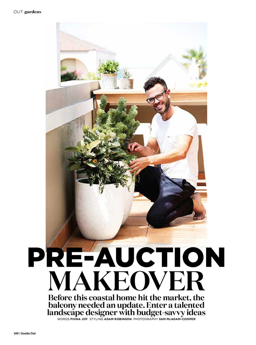 "INSIDE OUT MAGAZINE - ""Pre-auction makeover""Sept, 2016"