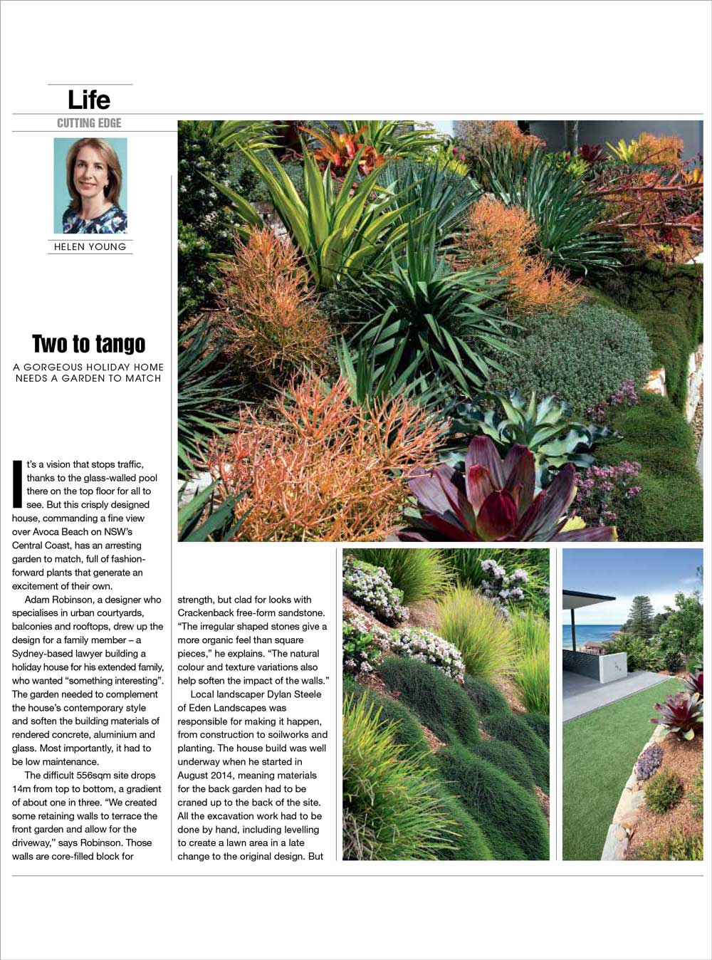 "THE WEEKEND AUSTRALIAN - ""Two to Tango: A gorgeous holiday home needs a garden to match""Mar, 2017"