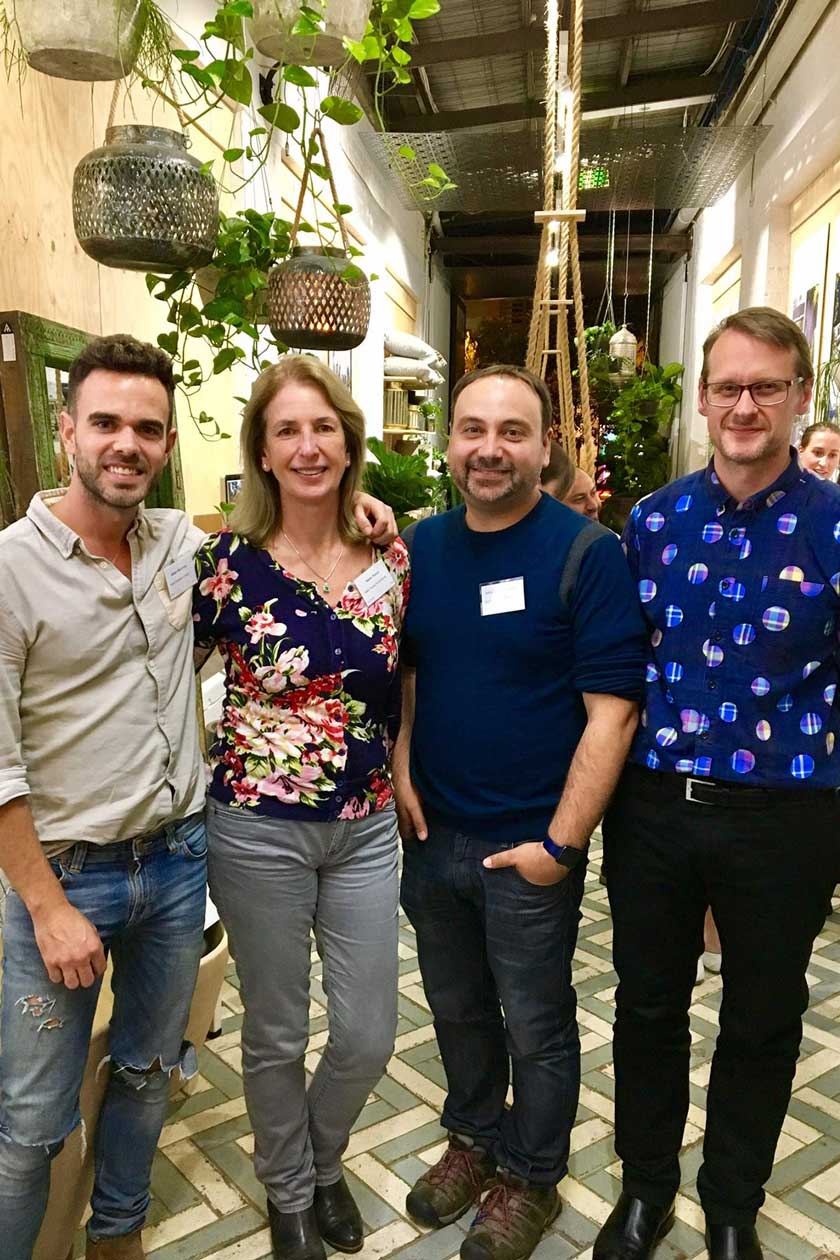 From left: Adam Robinson - Designer & Stylist, Helen Young - Horticulturist and Journalist for The Weekend Australian, Adriano Carrideo - Landscape Designer at Wyer and Co, Nicholas Watt - Garden Photography