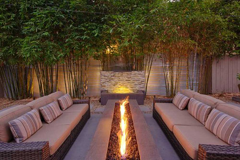 A cosy outdoor fire-pit