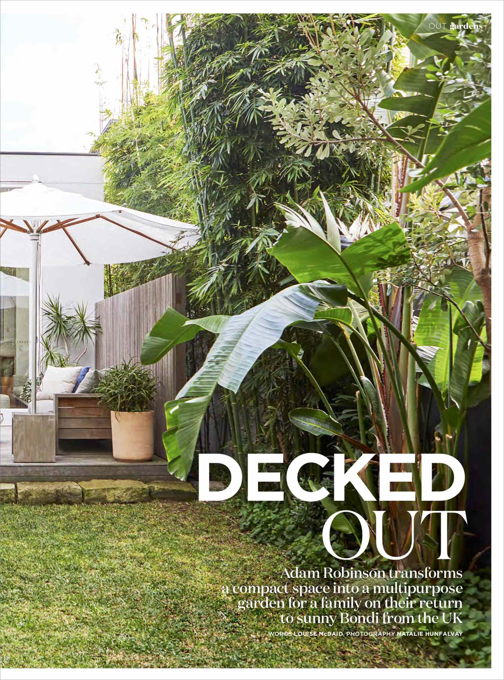 "INSIDE OUT MAGAZINE - ""Decked out""Oct, 2018"