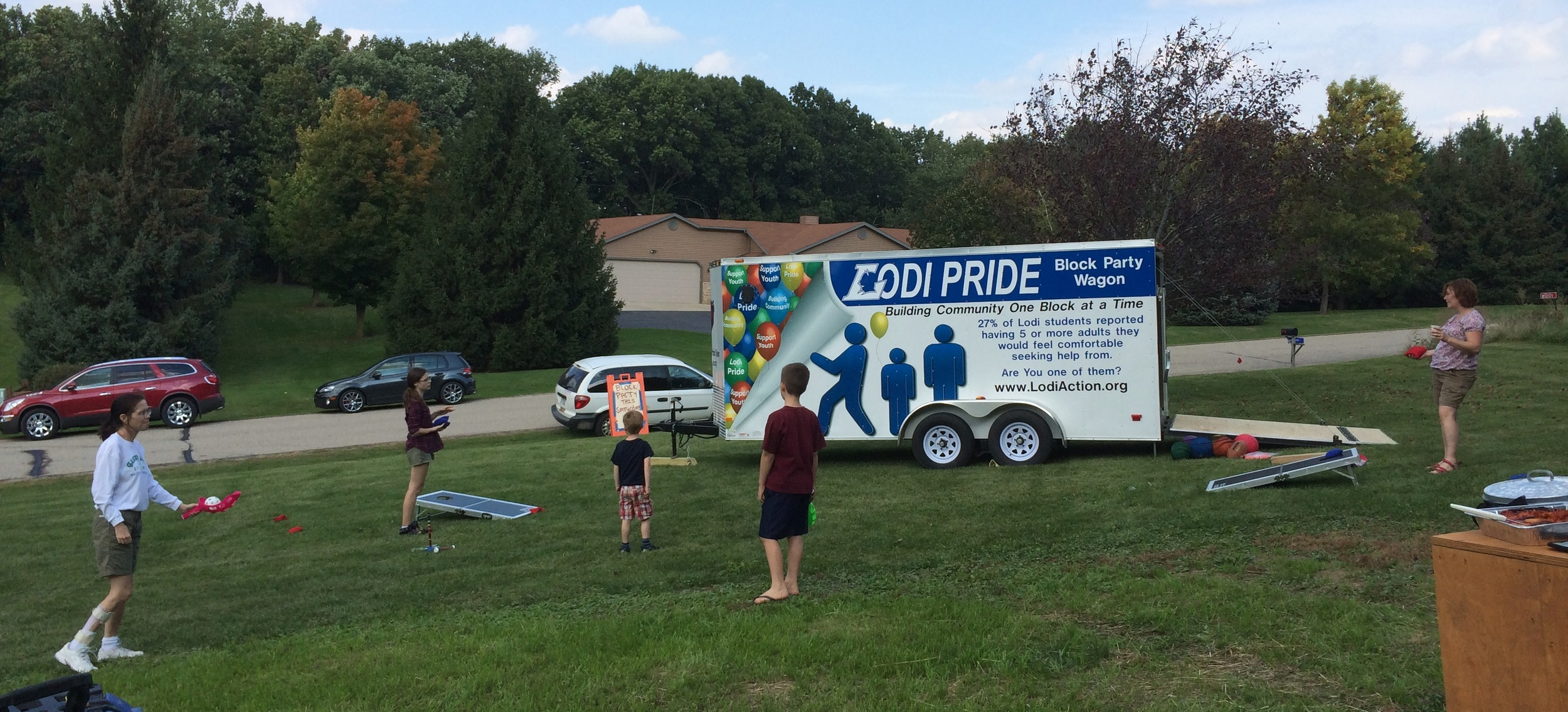 Lodi Pride Block Party Wagon by the Lodi Community Action Team