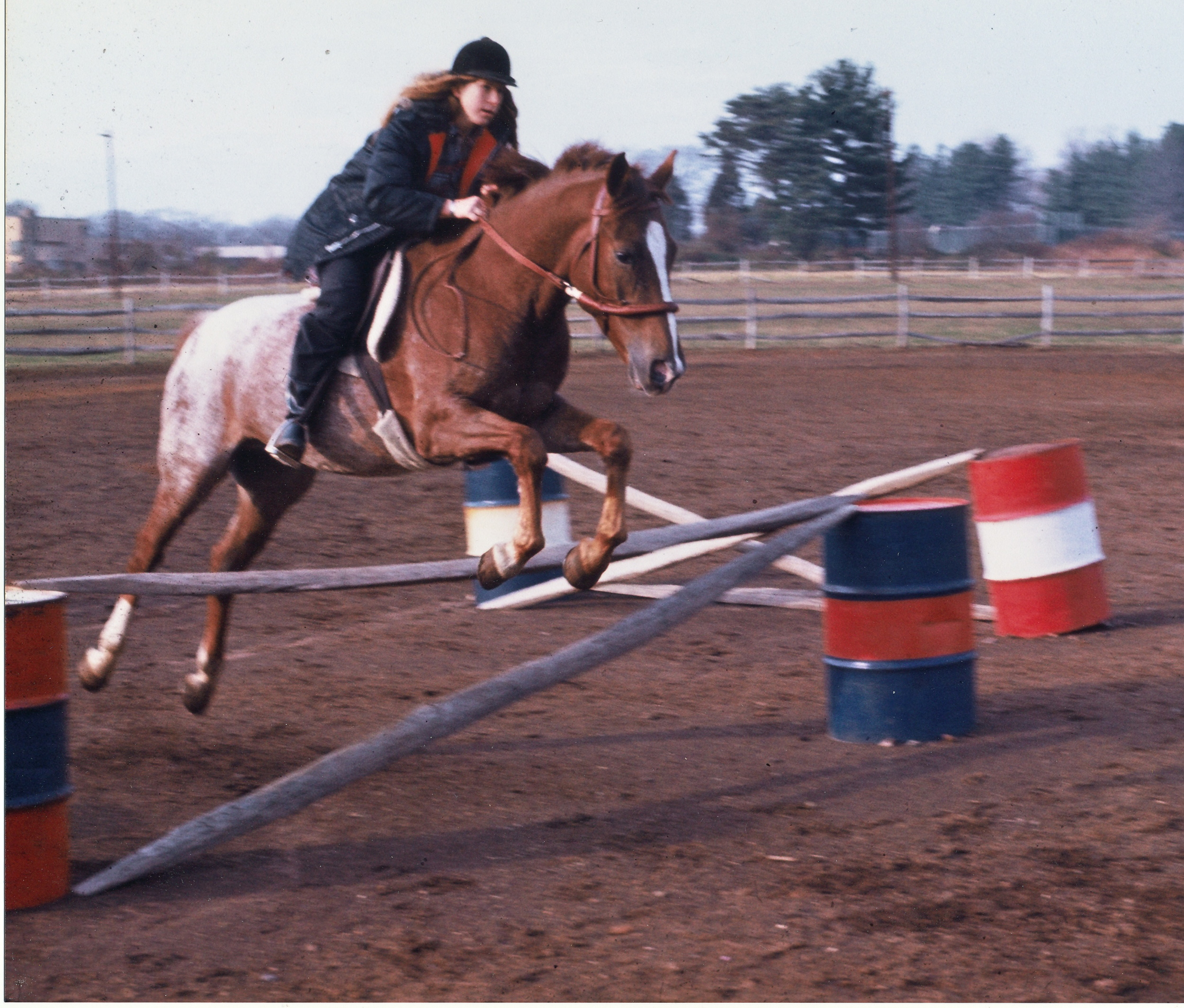 Jumping at age 16 on my horse Arapahoe