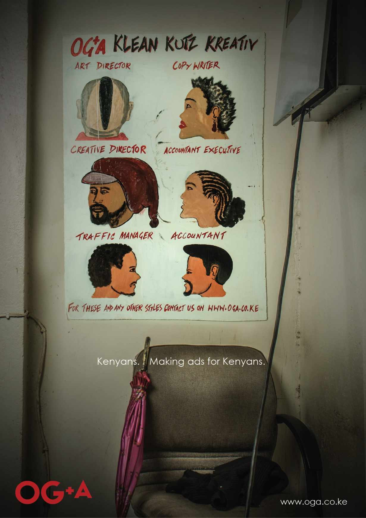OG+A: Barber shop   Advertising Agency: OG+A, Nairobi, Kenya