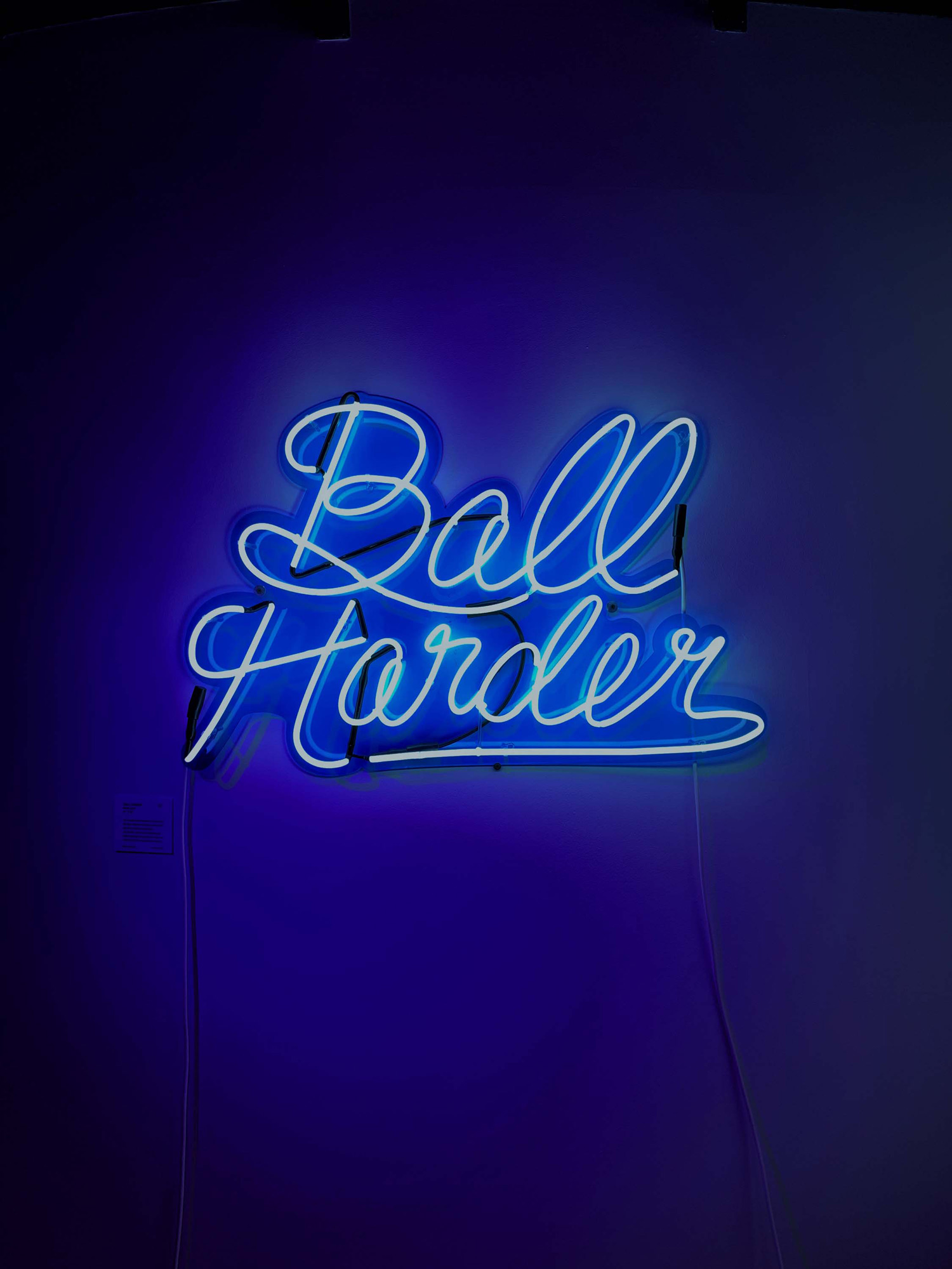 """""""BALL HARDER"""" - 42"""" x 36"""" ///// Neon LightSeeing your name in lights isn't the end goal, it's just the beginning. One's legacy is established over time. Legacy is created by what the people who learn from you, go on to teach others. Here,"""