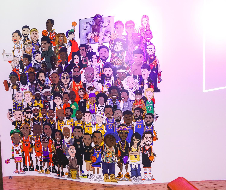 """""""THE FAMILY"""" - ///// 9' x 9"""" Vinyl Wallpaper"""