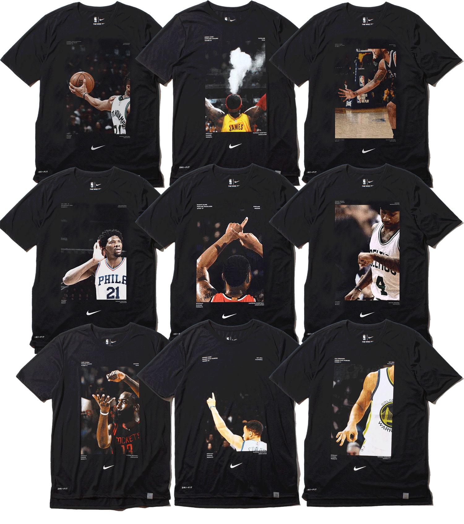 NIKE NBA PHOTO T-SHIRT COLLECTION