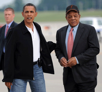 Obama & Willie Mays