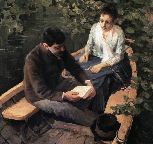 In the Boat  by  Kontantin Korovin  [cropped]