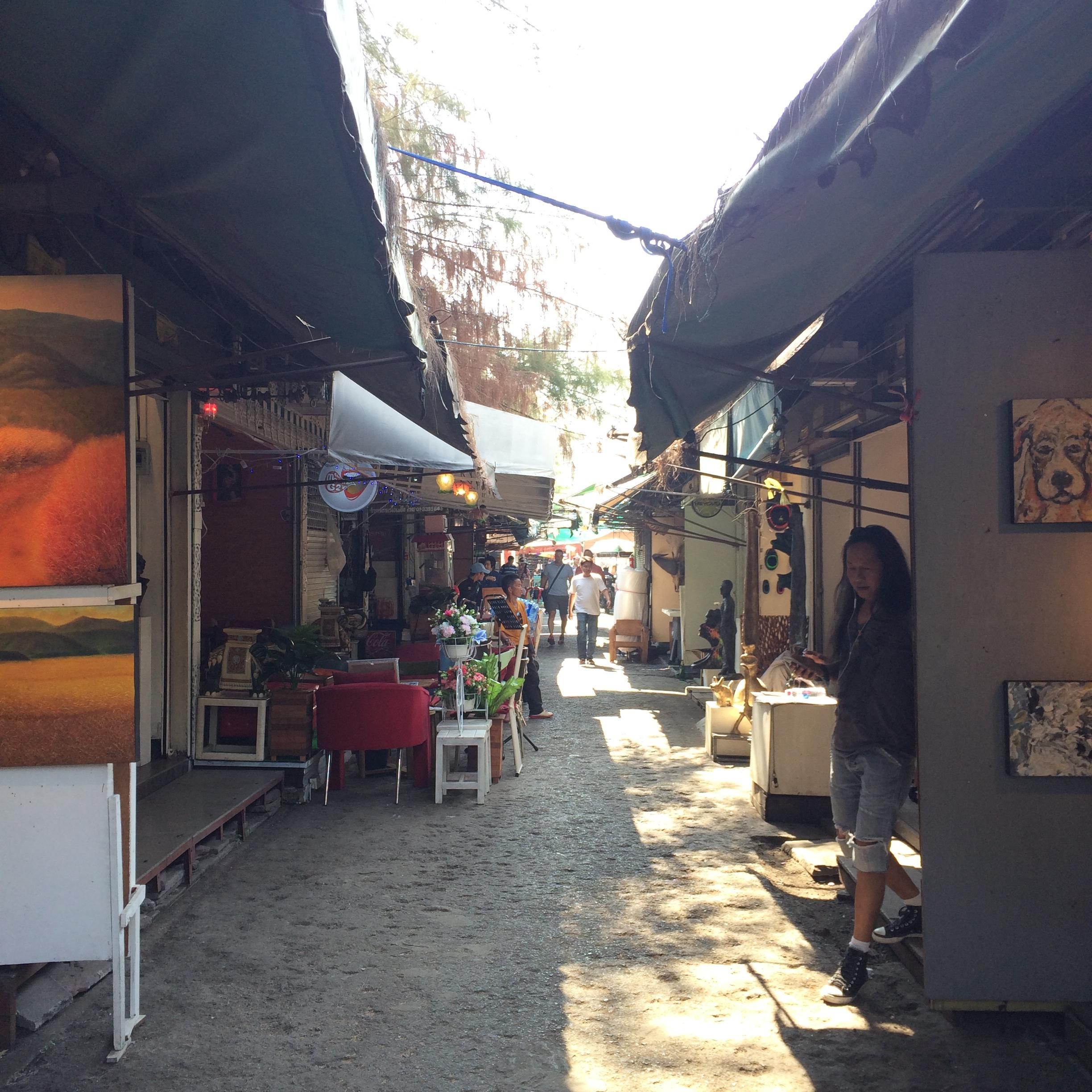 In a maze of shops, you can find art galleries, Thai massages, street food, and more.