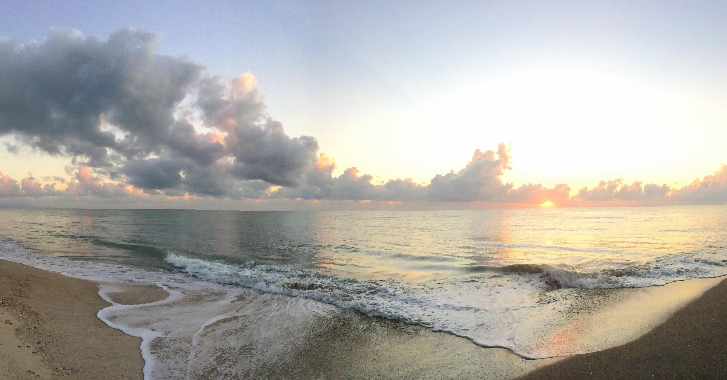 Sunrise in Khanom..a sight for sore eyes.