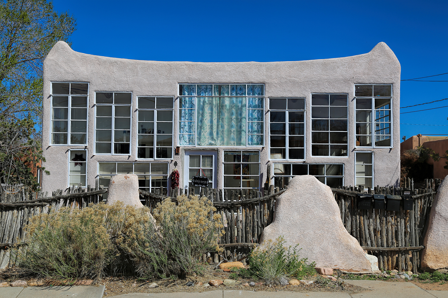 Eclectic architecture in Santa Fe's Railyard District