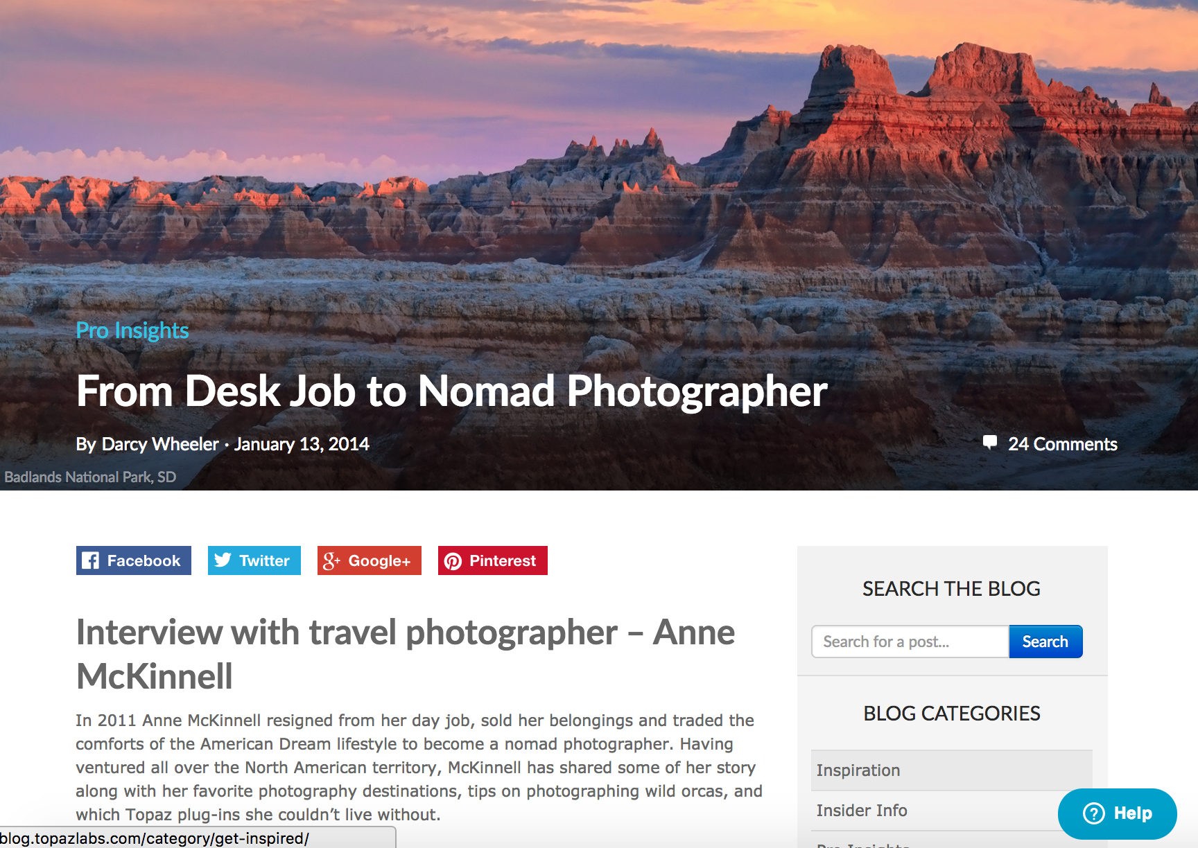 Interview with travel photographer Anne McKinnell