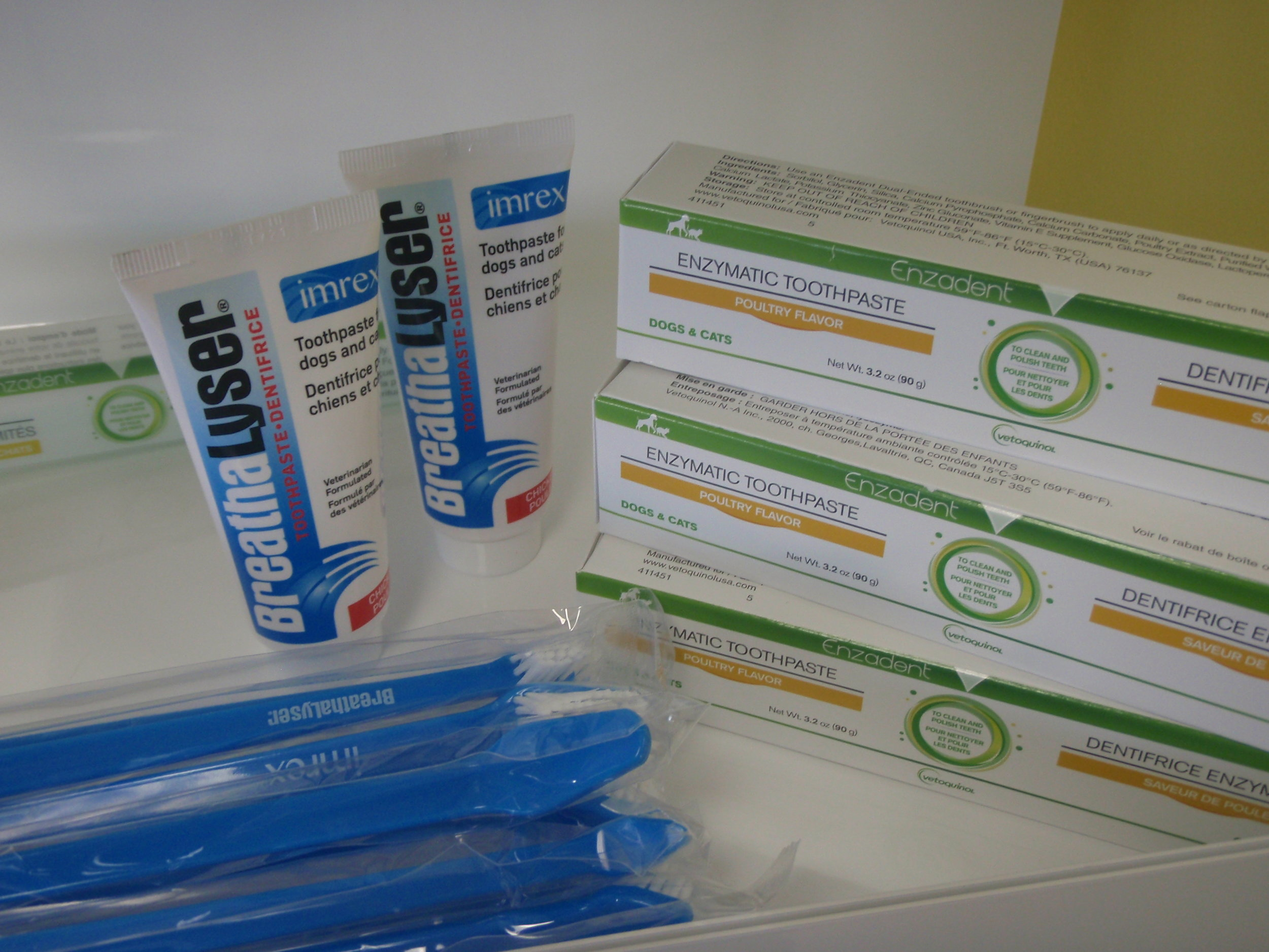 Tooth brushes and tooth paste