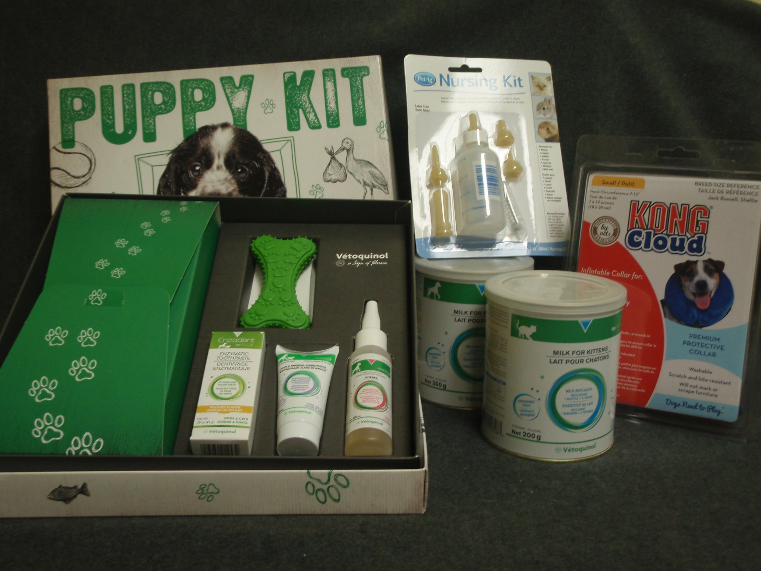 puppy kit, milk replacer for kittens and puppies