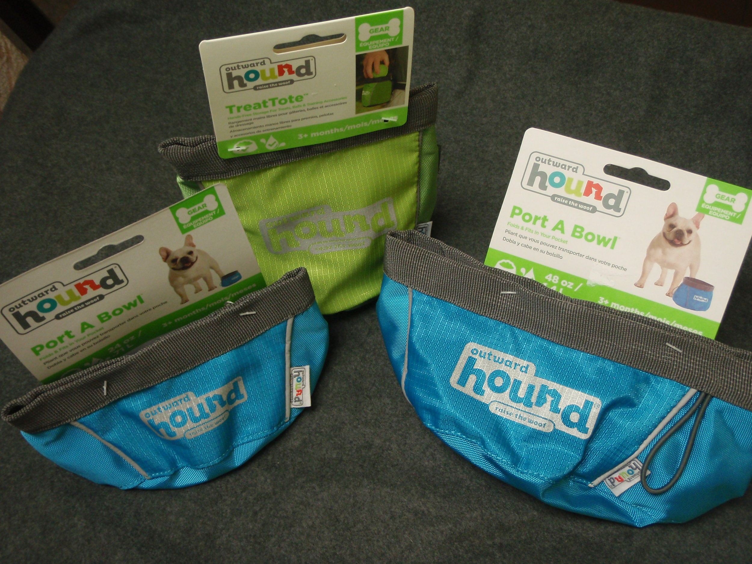 Food/ Water bowls and Treat pouches