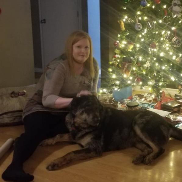 Cassaundra & her dog Monty