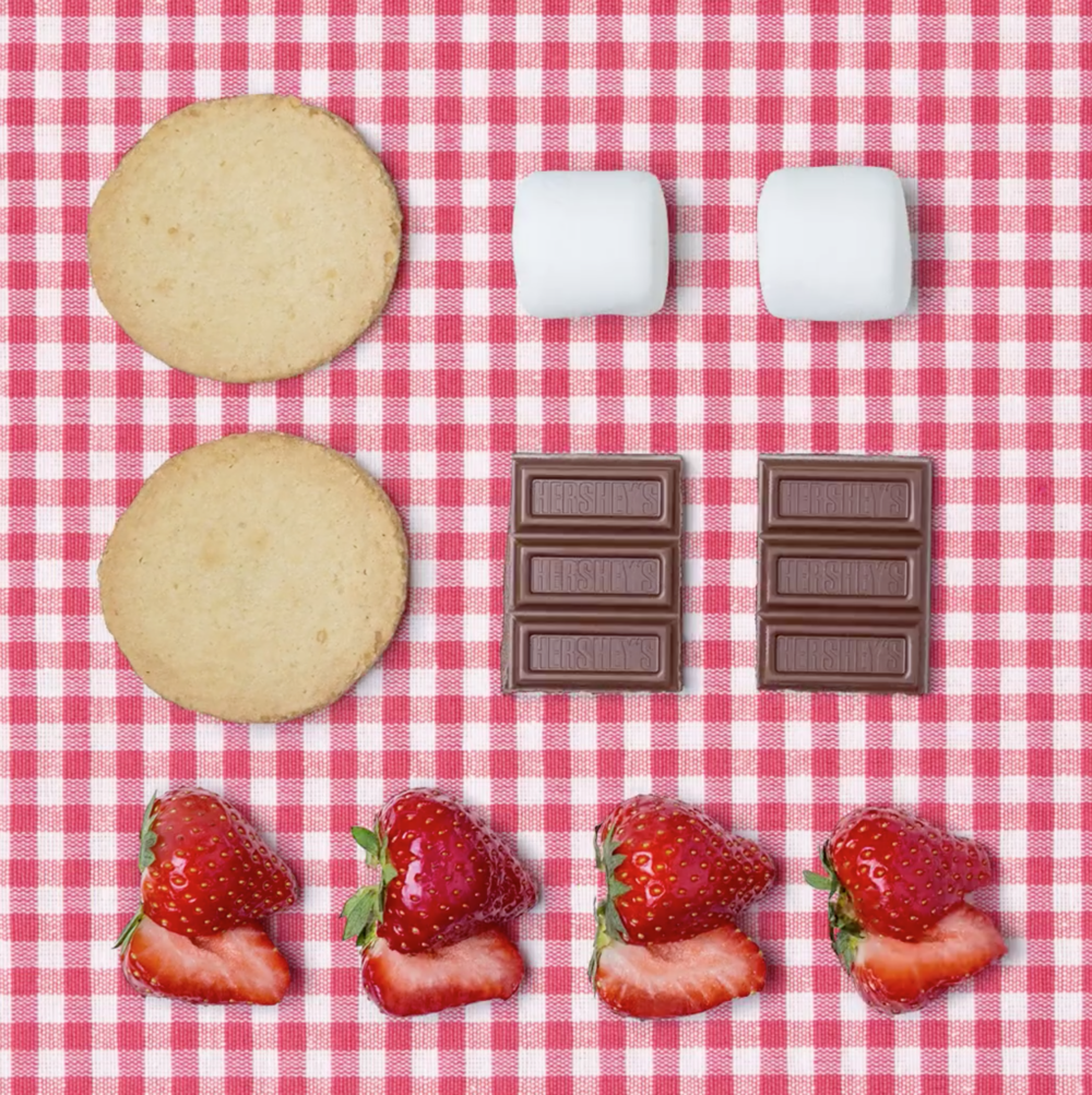 Facebook x Hershey's S'mores   The Strawberry Shortcake S'more. Have your (short)cake and eat it too.  #‎nocampfirerequired