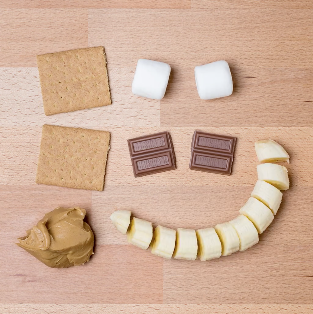 Facebook x Hershey's S'mores   This S'more is BANANAS. Literally.  #‎nocampfirerequired