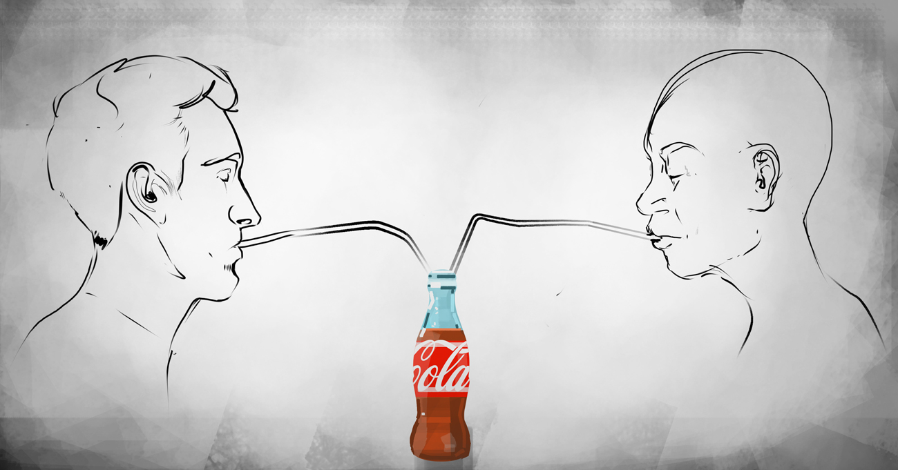 Have you ever wondered about how a homeless person on the side of the street and the leader of the free world consume the same fizzy soda drink just to have a fleeting moment of happiness?  Illustration by Elliot Devries
