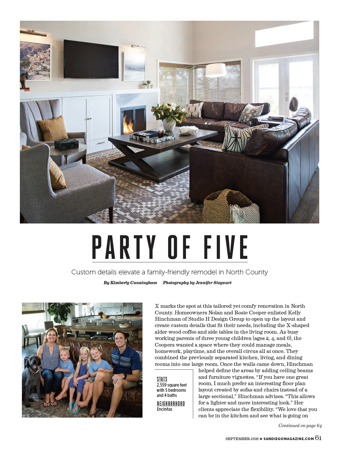 San Diego Magazine, Sept. 2016