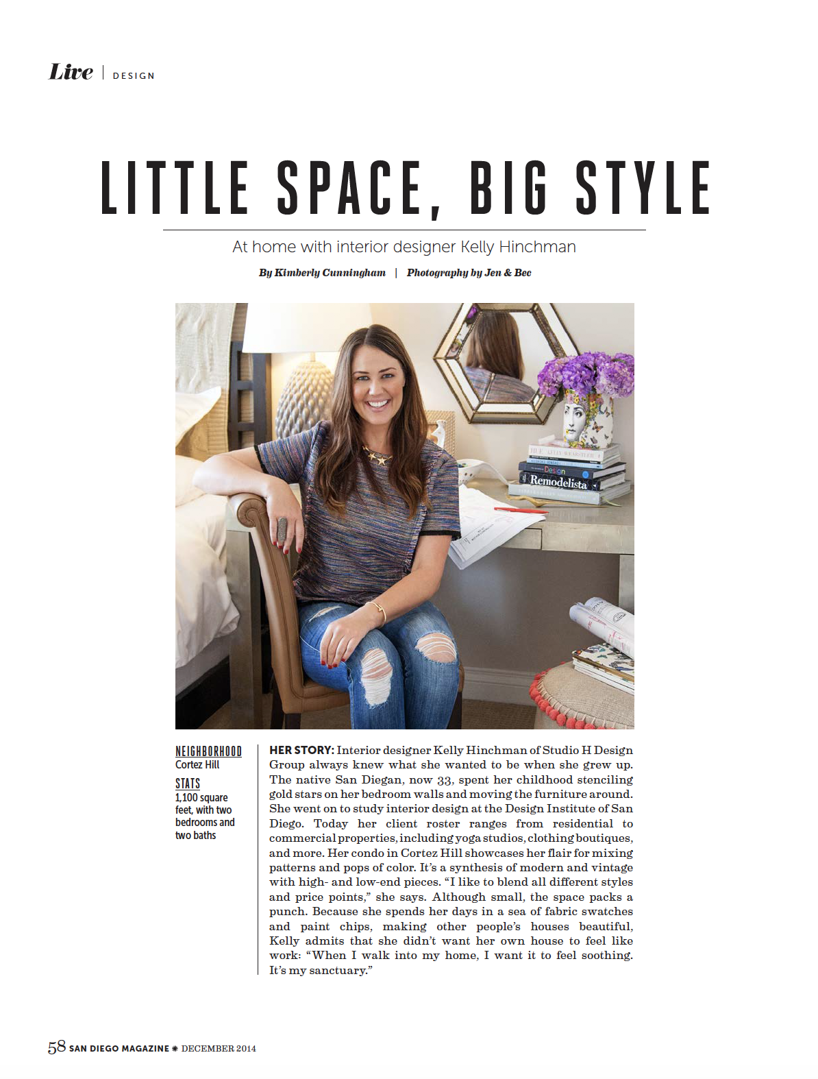 San Diego Magazine, Dec. 2014