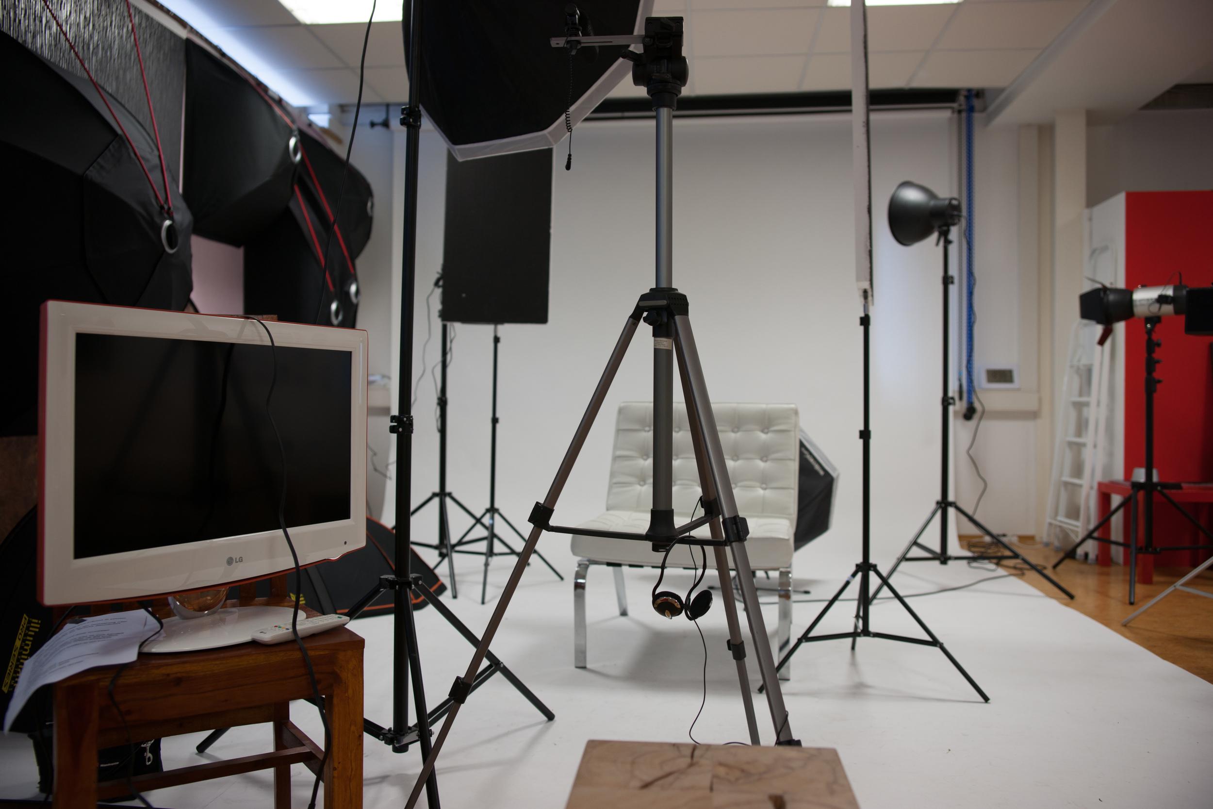 Studio beim Videoclip-Dreh