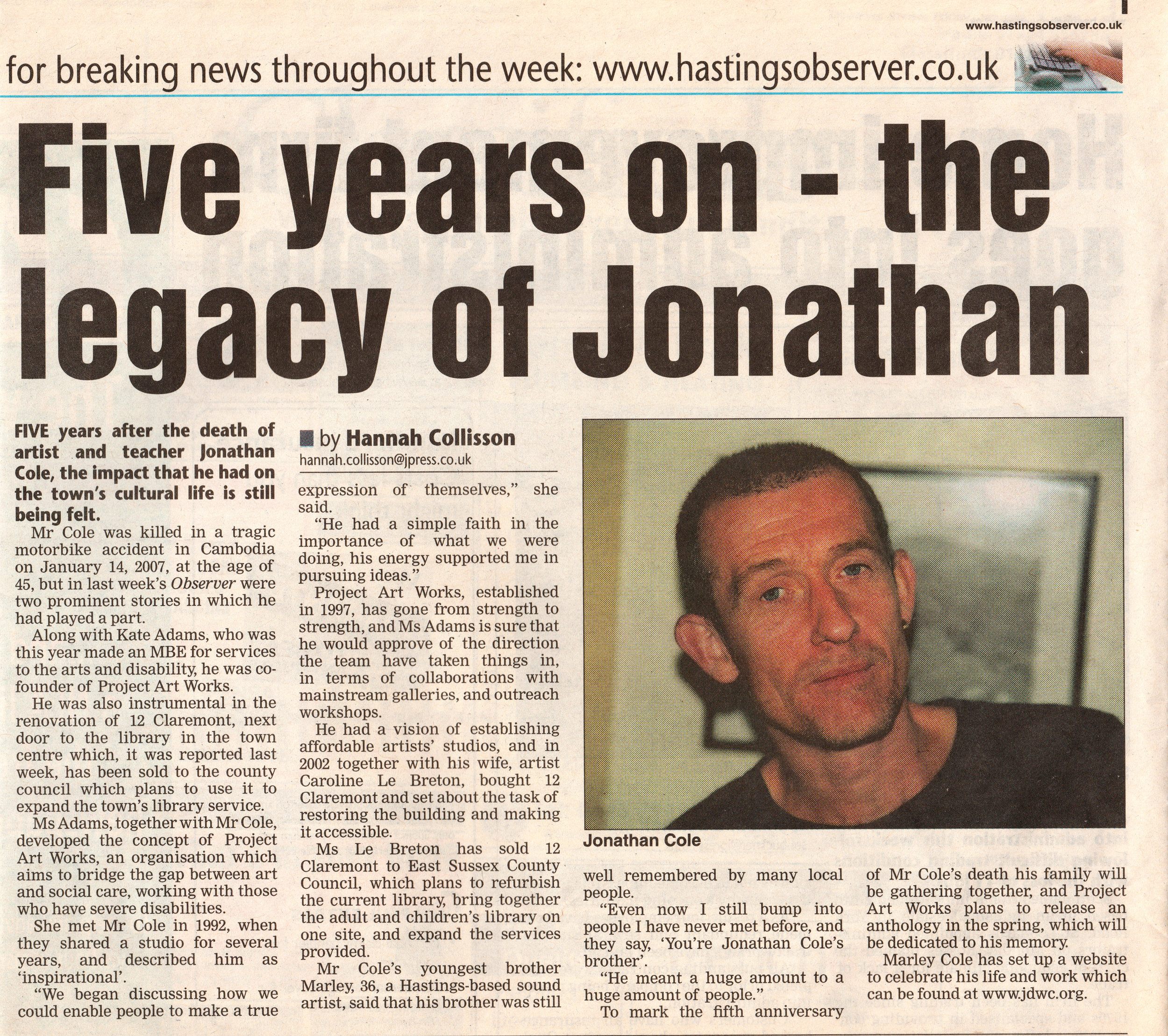 Hastings Observer JDWC 5 years on